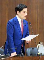 衆院予算委員会分科会で有明海再生問題について質問する岩田和親衆院議員=東京・永田町の国会
