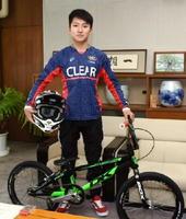 25日からアメリカで開かれるBMX世界選手権に出場する中尾海斗さん。決勝進出を目指す