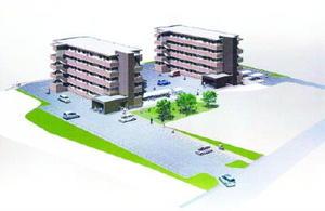 太良町が建設する賃貸住宅の完成予想図