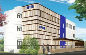 オプティムが佐賀大学内に設ける「イノベーション・パーク」の主要施設完成図(オプティム提供)