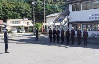 消防団へのエール 有田町消防団