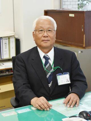 <こんにちは>江北町教育長に就任した吉田功さん