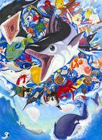 海の絵画コンで銀賞 塩田中2年一ノ瀬さん