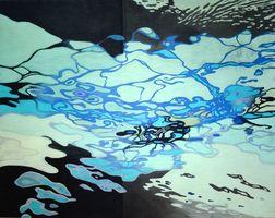 大賞に輝いた吉村希代子さんの染色「ある日の水面」
