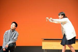 佐賀西高校演劇部のリハーサル風景=鳥栖市民文化会館