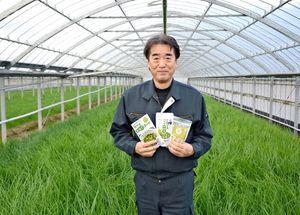 農林水産大臣賞に輝いた伊万里グリーンファームの前田清浩さん。6次産業化にもいち早く取り組み、経営の安定を図っている=伊万里市