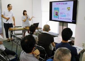 3月に伊万里市に移住した岩楯さん夫婦が佐賀で暮らすことの魅力を伝えた=東京・有楽町の東京交通会館