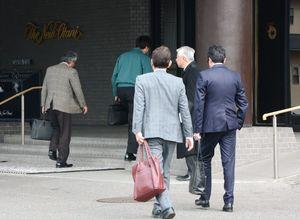 タカタの債権者説明会に参加する企業関係者=佐賀市のホテルニューオータニ佐賀