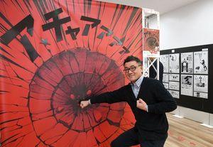 会場には迫力ある写真を撮れるスポットもある=佐賀市の佐賀バルーンミュージアム