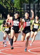 400メートルリレーは男子佐賀工、女子佐賀北が頂点 県高…