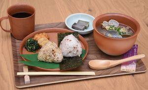 1日限定30食の特別メニュー「古代貝汁御膳」=吉野ケ里歴史公園