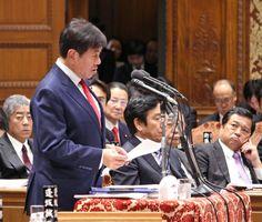 「無所属の会」トップバッターで予算委員会の質問に立った原口一博衆院議員=東京・永田町の衆議院