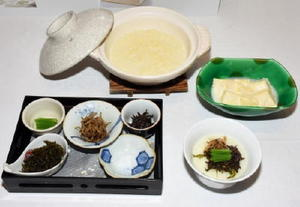 プロ部門のグランプリに輝いた嬉野温泉ホテル光陽閣の「温泉湯豆腐…粥」