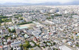 <空さんぽ 学校のある風景(42)>龍谷高校周辺