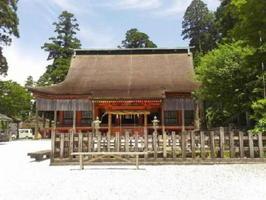 彦山神宮・奉幣殿。1616年に細川忠興が復興した「彦山霊仙寺大講堂」を今はこう呼んでいる