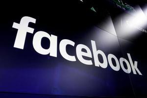 フェイスブックのロゴ=2018年3月、米ニューヨーク(AP=共同)