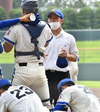 <SSP杯 高校野球>経験者の目でサポート 唐津商生徒会長の3年・平山
