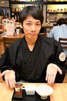 特別企画「日本一周お米の旅」を開催しているゲストハウスの髙瀬伶店長=佐賀市