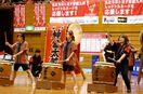 神埼中高生、神舞太鼓を披露