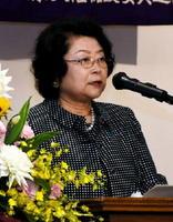 新部会の設置を提案する県人権擁護委員会連合会の酒見紀代子会長