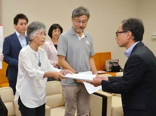 反原発団体が議会に要請書 核燃料サイクル巡り
