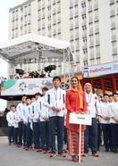 アジア大会、日本選手団が入村式