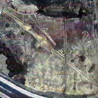 藤木遺跡の中世の溝跡