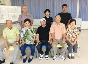 佐賀江北ビッキー支部スポーツ吹矢8月定例大会の参加者