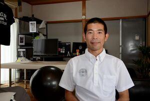 ランニングクラブ「Ureshino Athlete」を設立した下田貴志さん=嬉野市嬉野町