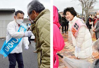 密回避、握手も自粛…選挙戦が様変わり 唐津市長選・市議選
