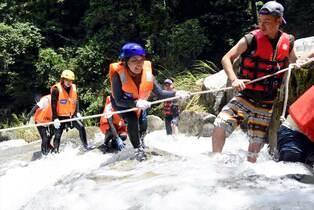 <新型コロナ>国際渓流滝登り中止…