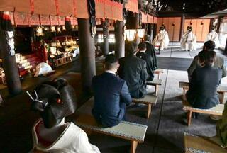 京都・北野天満宮で梅花祭