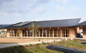 建築家の津端さんが「最後の仕事」として設計草案を手掛けたカフェや菜園を併設した施設=伊万里市二里町