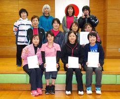第81回佐賀市ミニテニス大会 女子の部の入賞者