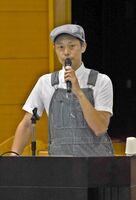 研修会で講演した大藪さん=杵島郡白石町の福富ゆうあい館