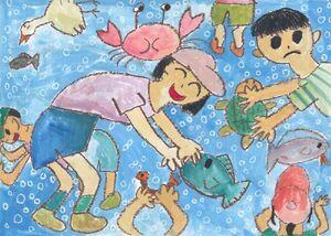 小学1~3年生の部で金賞を受けた春日北小3年の嶋田彩花さん=提供
