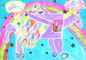 6年生最優秀賞に選ばれた兵庫小の飯盛未夢さんの作品