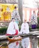 子どもの健やかな成長祈り「流し雛」 佐賀市の佐嘉神社