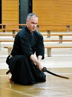 「水鴎流」で古武道の世界を追求するブラッドフォードさん