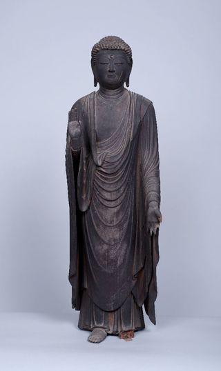 県内最古の木彫り仏像 白石町・弥福寺