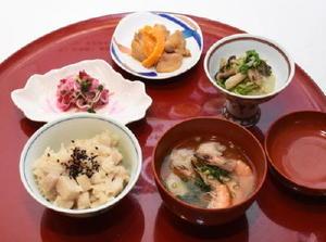 一般部門のグランプリに輝いた松尾久美子さんの「昔からの保存食と冬野菜のコラボごはん」