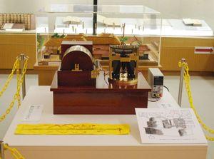 地電気自記器復元模型(国立科学博物館監修、多久市郷土資料館蔵)