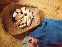 楠の端材を再利用したエコブロック