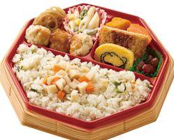 神埼清明高の生徒たちが考案した「清明シャキシャキ弁当」(提供写真)
