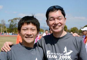 中村光介さん(右)と森山洋輔さん