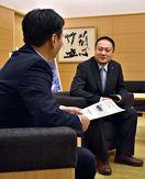 龍馬の兄の子孫 坂本さん知事訪問