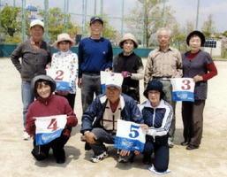 県高齢者大学佐賀校16期会GG大会の上位入賞者