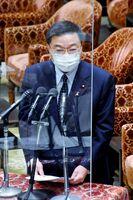 総務政務官として初答弁する古川氏=衆議院