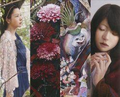 左から小木曽さん、鶴さん、仁戸田さん、米村さんの作品
