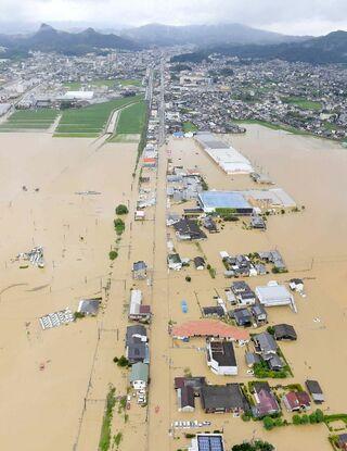 <10市10町・うちの防災マップ>武雄市 被災地域で3~5メートル冠水